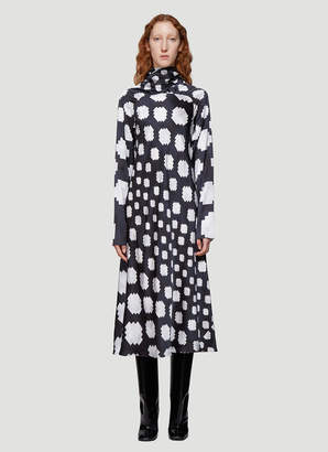 Marni Long Pixel-Print Dress in Black