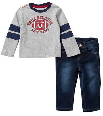 f641e4ab True Religion Athletic Tee & Jean 2-Piece Set (Baby Boys)