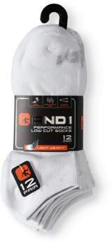 AND 1 Men's Lightweight Low Cut Performance Socks, 12-Pack