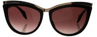 Alexander McQueen Cat-Eye Tinted Sunglasses
