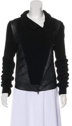 Ohne Titel Leather-Trimmed Long Sleeve Jacket