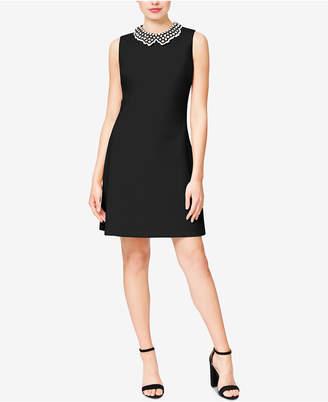 Betsey Johnson Imitation-Pearl-Collar Dress