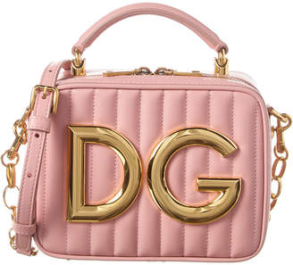 Dolce & Gabbana Logo Plaque Leather Crossbody