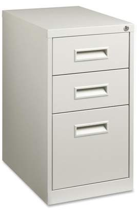 Lorell 3 Drawers Vertical Steel Lockable Filing Cabinet, Gray