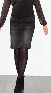 Esprit stretch denim skirt over-bump waistband