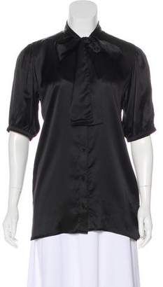 Anine Bing Silk Button-Up Blouse w/ Tags