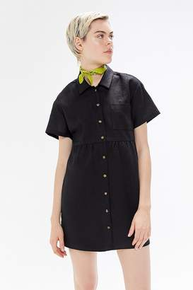 1f036547 Urban Renewal Vintage Remnants Linen Button-Down Shirt Dress