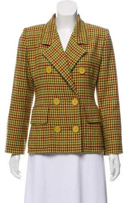 Givenchy Double-Breasted Plaid Blazer