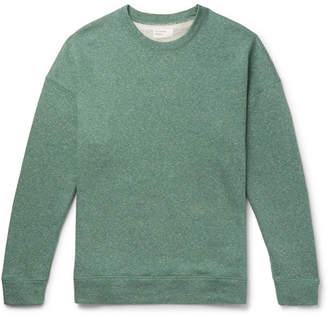 Universal Works Oversized Mélange Loopback Cotton-Blend Jersey Sweatshirt