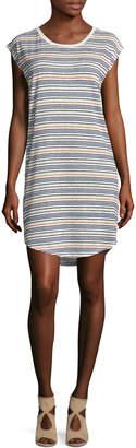 Velvet by Graham & Spencer Women's Stripe Crewneck T-Shirt Dress