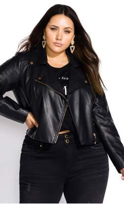 City Chic Citychic Zip Biker Jacket - black
