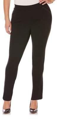 Rafaella Plus Ponte Solid Pull-On Pants