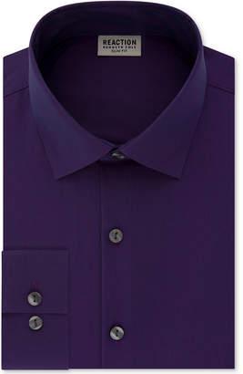 Kenneth Cole Reaction Men Techni-Cole Slim-Fit Performance Stretch Wrinkle-Free Flex-Collar Dress Shirt