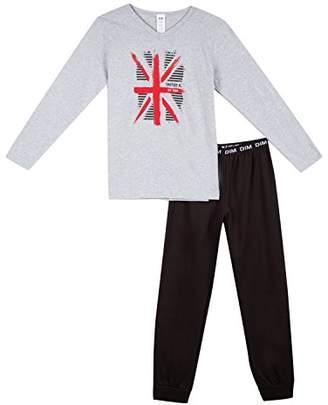 Dim Boy's Nuit Pyjama 2 Pièces Garcon Set, (Black 02), (Size: 10A)