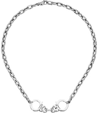 King Baby Studio - Chain Choker w/ Handcuffs Necklace $770 thestylecure.com