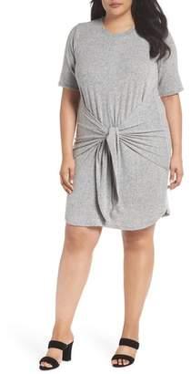 Caslon Off-Duty Tie Front Knit Dress
