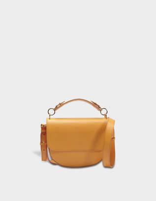 Sophie Hulme Bow Medium Bag in Dark Butter Calf Leather
