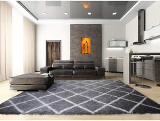 Wrought Studio Salcedo Dark Gray Area Rug