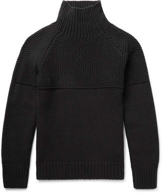 Burberry Textured Cashmere Mock Neck Sweater