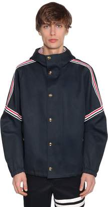 Thom Browne Oversized Hooded Cotton Twill Jacket