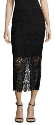 Diane von Furstenberg Tailored Overlay Pencil Skirt