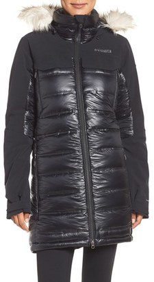 Women's Columbia Heatzone 1000 Turbodown(TM) Hooded Jacket With Faux Fur Trim $650 thestylecure.com