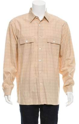 Ralph Lauren Purple Label Glen Plaid Button-Up Shirt