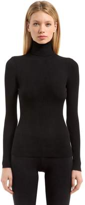 Wolford Fine Merino Wool Rib Knit Sweater