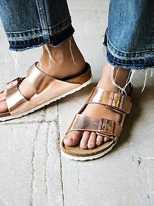 Arizona Metallic Birkenstock $135 thestylecure.com