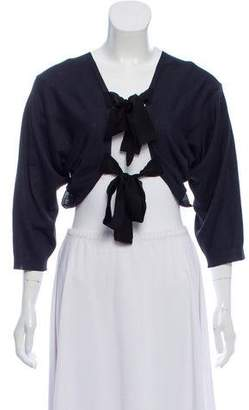 Lanvin Bow-Accented Knit Cardigan