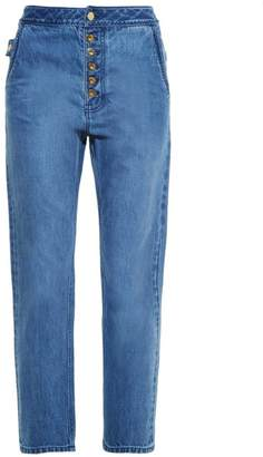 Ellery - Monroe High Rise Slim Leg Jeans - Womens - Denim