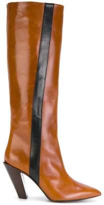 A.F.Vandevorst knee high boots with stripe