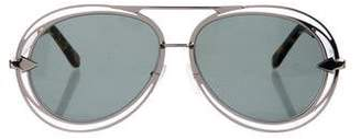 Karen Walker Oversize Aviator Sunglasses