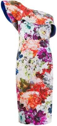 Chiara Boni Le Petite Robe Di floral one shoulder dress