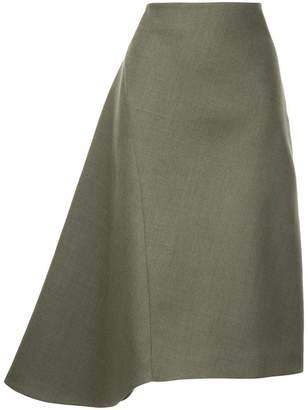 Jil Sander asymmetric flared skirt