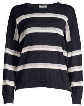 Peserico Lurex Striped Wool, Silk & Cashmere Sweater