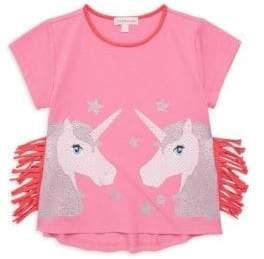 Design History Little Girl's Unicorn Fringe Tee