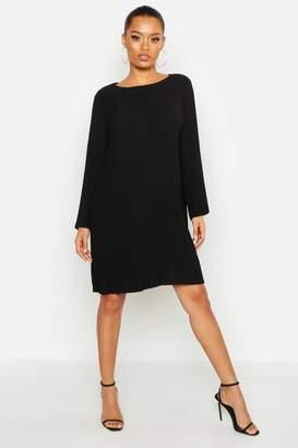 boohoo Pleated Smock Dress