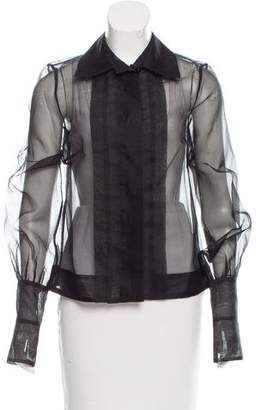 Camilla And Marc Sheer Button-Up Blouse