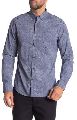 Heritage Illusion Wolf Print Slim Fit Shirt