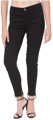 Juicy Couture Quilted Denim Moto Jegging