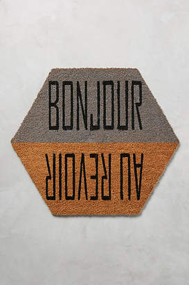 Anthropologie Bonjour & Au Revoir Doormat