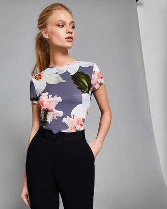 Ted Baker ELIJAE Chatsworth Bloom fitted T-shirt