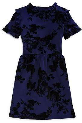 Aqua Girls' Ruffled Floral Dress, Big Kid - 100% Exclusive
