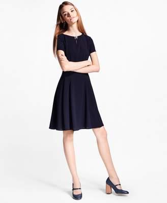 Brooks Brothers Crepe A-Line Dress