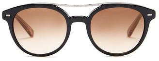 Ermenegildo Zegna Women&s Acetate Round Sunglasses $285 thestylecure.com