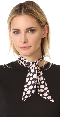 Kate Spade New York Small Petal Stamp Silk Skinny Scarf $48 thestylecure.com