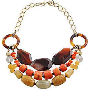 Barse Triple Row Statement Necklace