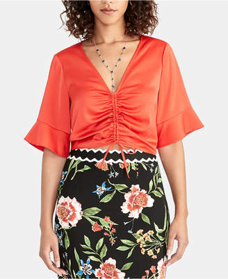 Rachel Roy Stacey Ruched-Front Top