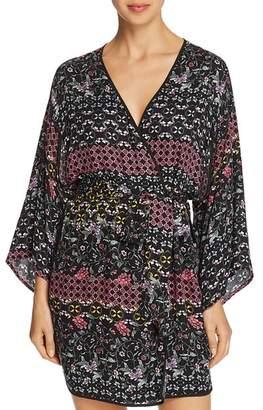 Josie Printed Twill Short Wrap Robe